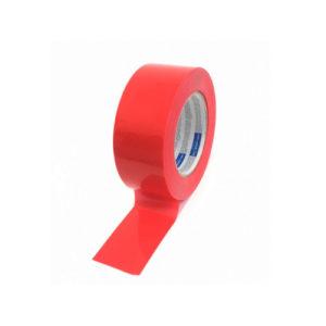PE- suojausteippi punainen 48mmx50m rulla avattuna