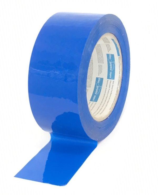 PE- suojausteippi sininen 48mmx50m rulla avattuna