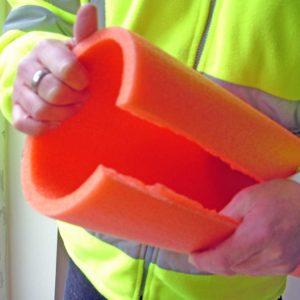 Karmisuoja Foam FR rakenne